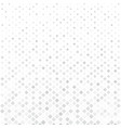 abstract halftone white and gray square pattern vector image vector image