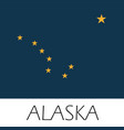 alaska state flag flat style vector image