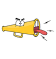 Angry Megaphone vector image