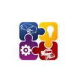auto solution logo design template vector image