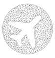 avion polygonal frame mesh vector image vector image