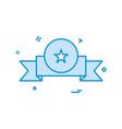 award badge icon design vector image vector image