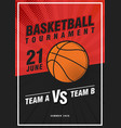 basketball tournament modern sports posters vector image vector image
