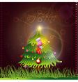 beautiful christmas tree vector image