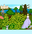 beautiful colorful game for children prince and vector image