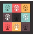 Beautiful pure wi-fi icon set Simple flat square vector image vector image