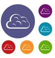 big cloud icons set vector image vector image