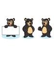 Black Bear Mascot happy vector image vector image