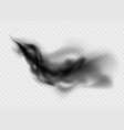 black smoke cloud isolated on transparent vector image vector image