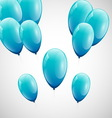Blue balloons with white background vector image