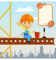 builder worker steeplejack vector image vector image