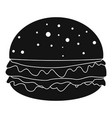 burger icon simple style vector image vector image