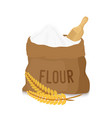 canvas bag with white flour scoop ears vector image vector image