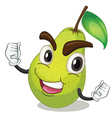 Cartoon Pear vector image vector image