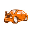Cartoon style sports car isolated vector image vector image
