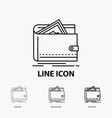 cash finance money personal purse icon in thin vector image vector image