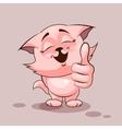 Cat thumb up vector image