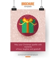 Christmas brochure template Abstract typographical vector image vector image