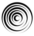 concentric circles w dynamic irregular line vector image vector image
