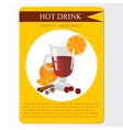 Cranberry orange punch menu item or sticker vector image vector image