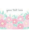 cute pink peonies vector image vector image