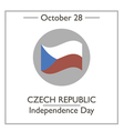 Czech Republic Independence Day vector image vector image