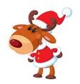 deer Santa funny vector image vector image
