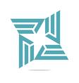 design letter e trapeziodal shuriken symbol vector image