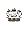 emblem of strawberries vector image vector image