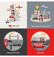England Culture Travel 4 Flat Icons vector image vector image