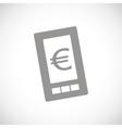 Euro phone black icon vector image vector image