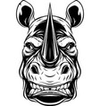 ferocious rhino head vector image vector image