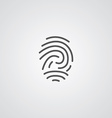fingerprint outline symbol dark on white vector image
