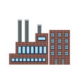 flat factory building vector image vector image