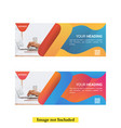 fluid gradient banner banner template vector image vector image