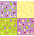 fruit seamless backgrounds vector image