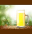 glass mug with beer vector image