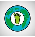 global world footprint ecology icon design vector image
