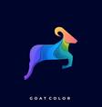 goat design template vector image