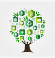 green tree for environment and ecology concept vector image