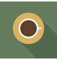 Icon of a cup of coffee vector image