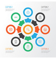 internet icons set collection pinpoint vector image vector image