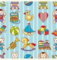 kid toy seamless pattern design element for vector image