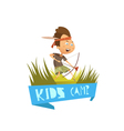 Kids Camp Concept vector image vector image