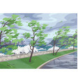 landscape with stormy wind on coast vector image vector image
