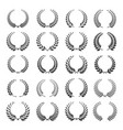 laurel wreath icon set vector image vector image