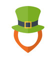 leprechaun hat and dginger beard and empty face vector image vector image