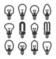 Light bulb icons set on white background