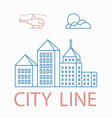 line linear urban city landscape vector image