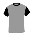 Man shirt short sleeves vector image